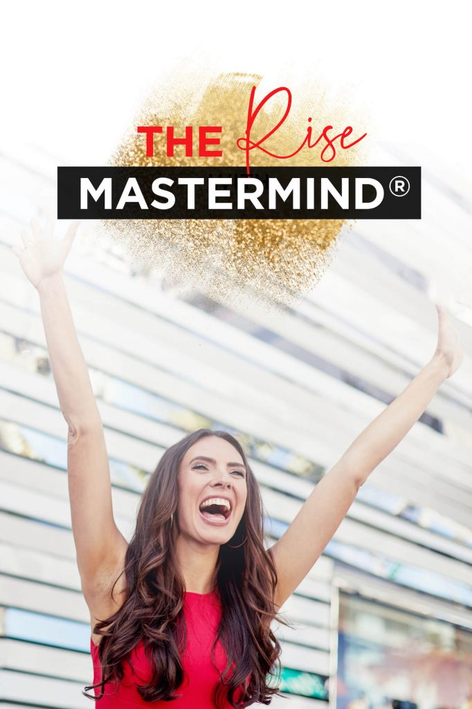 Rise Mastermind program graphic - business coaching for women