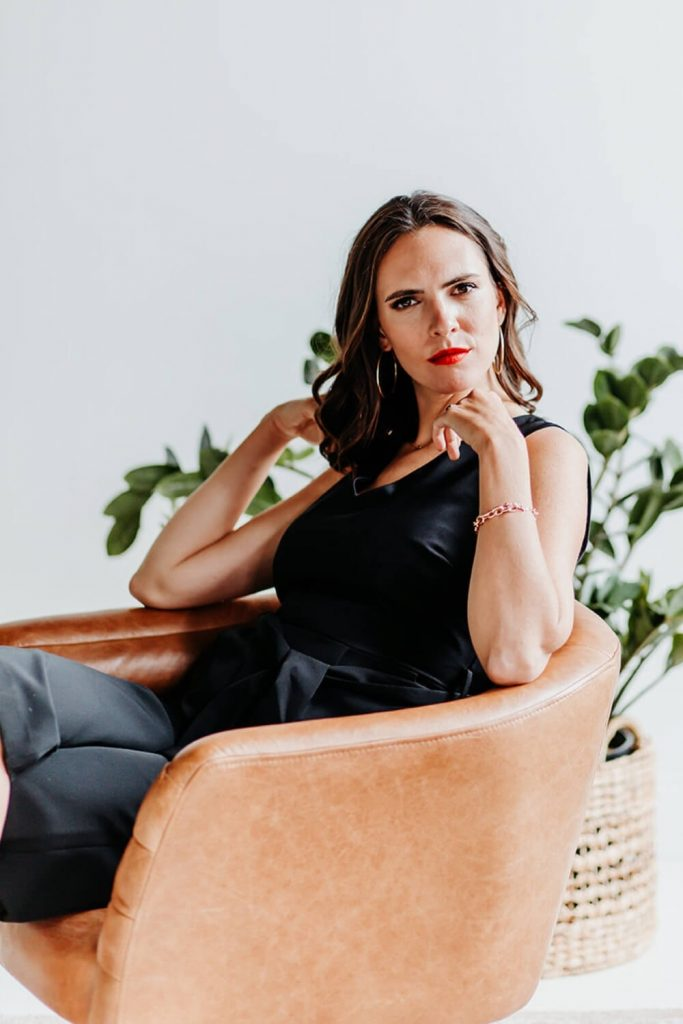 cait sitting to the side - business coaching for women