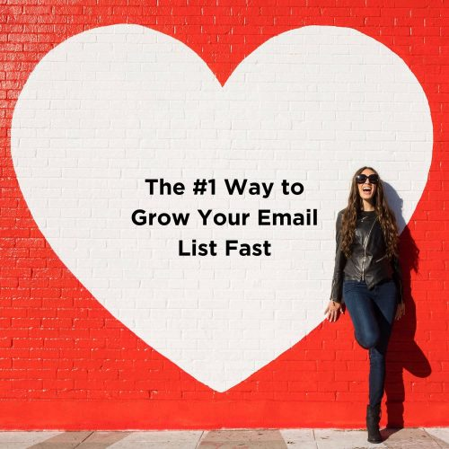 the number one way to grow your email list fast blog graphic